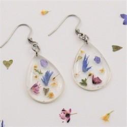 Dainty Flowers Drop Earrings