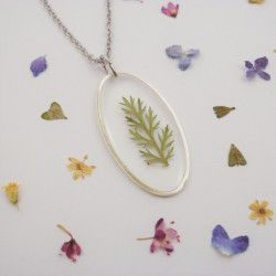 Pressed Achillea Necklace