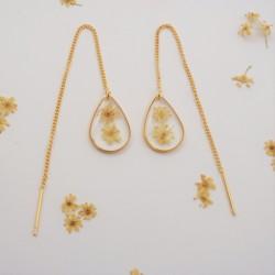 Elderflower Threader Earrings
