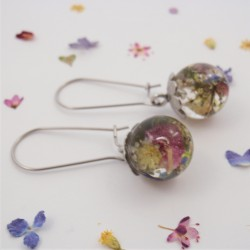 Mixed Flowers Meadow Earrings
