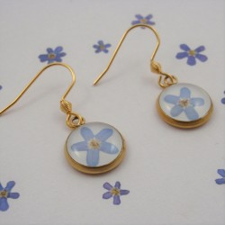 Forget Me Not Earrings Gold