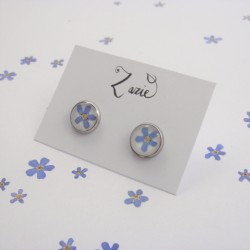 Forget Me Not Post Earrings