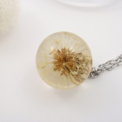 Dandelion Sphere Necklace