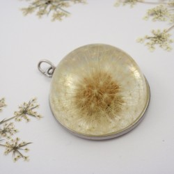 Dandelion Necklace Half Sphere