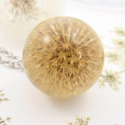 Full Sphere Dandelion Necklace