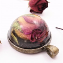 Rose Necklace Half Sphere