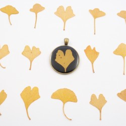 Vintage Ginkgo Necklace