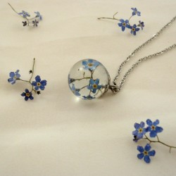 Forget Me Not Resin Sphere...