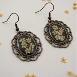 Vintage Elderflower Earrings