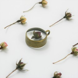 Tiny Rose Bud Necklace